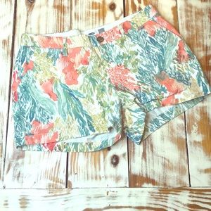 Old Navy Water Color Coral Reef Chino Shorts